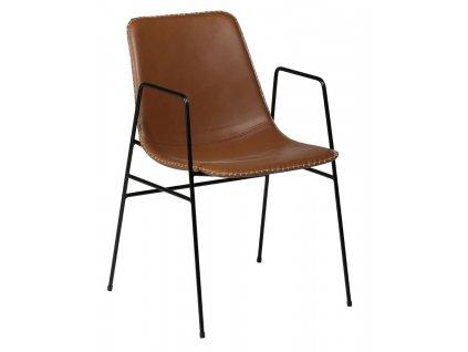 Světle hnědá koženková židle DanForm Floss