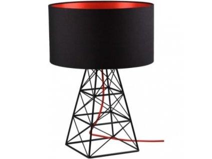 Stolní lampa Pylon černá/červená