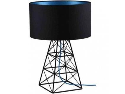 Stolní lampa Pylon černá/modrá