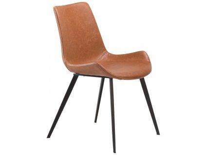 Koňaková koženková jídelní židle DanForm Hype