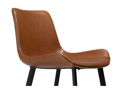 Světle hnědá koženková barová židle DanForm Hype