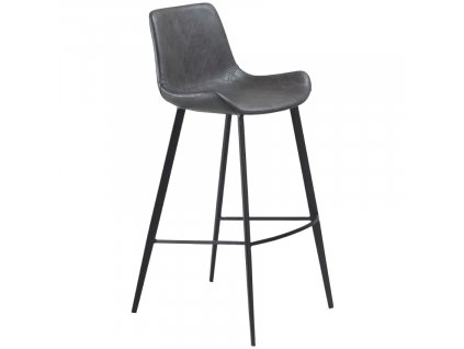 Tmavě šedá koženková barová židle DanForm Hype 75 cm