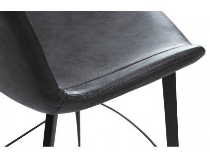 Barová židle DanForm Hype, tmavě šedá ekokůže