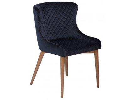 Modrá sametová židle DanForm Vetro