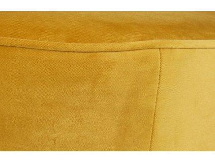 Okrově žlutá dvoumístná pohovka Norma 110 cm