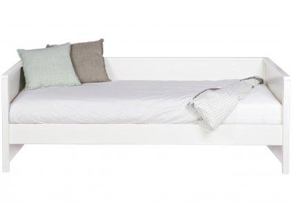 Bílá postel Warde 90x200 cm