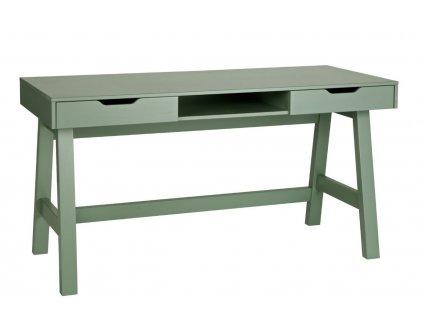 Zelený masivní pracovní stůl Warde