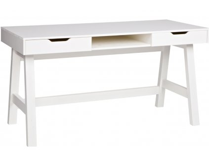 Bílý pracovní stůl Warde masivní