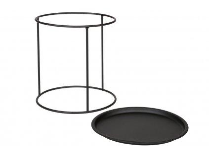 Kovový konferenční stolek Select M, černá barva