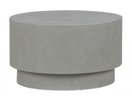 Šedý kulatý odkládací stolek James 60 cm