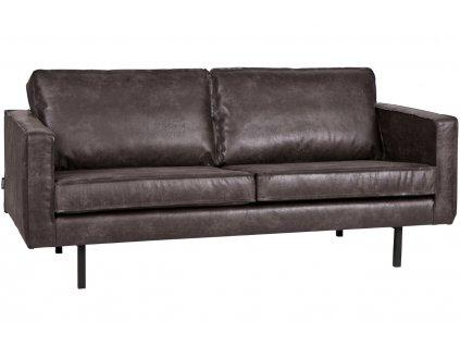 Černá pohovka Raden 190 cm z regenerované kůže
