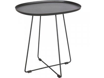 Černý kovový odkládací stolek Arborio