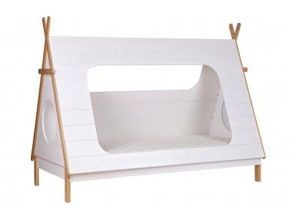 Bílá dětská postel Wooliz 90 x 200 cm