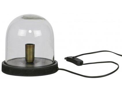 Černá retro stolní lampa Magnus 19 cm