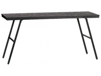Černý toaletní stolek Sharky 150 cm