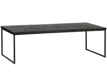 Černý dřevěný konferenční stolek Sharky 120 cm