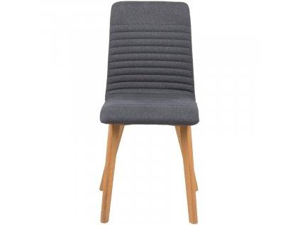 Antracitově šedá látková jídelní židle Areta