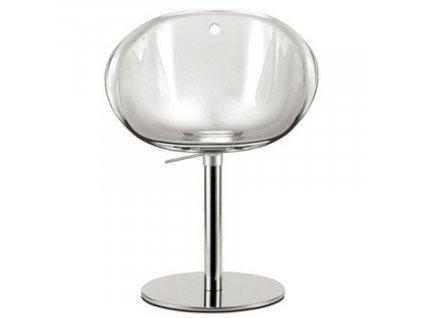 Transparentní plastová otočná jídelní židle Gliss 951