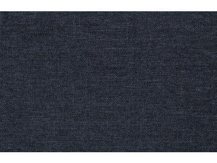 Modré látkové křeslo Classo s černou podnoží, čalounění, černá lakovaná kovová podnož