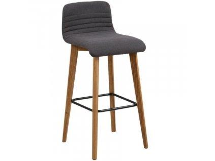 Antracitově šedá barová židle Areta
