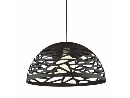 Černé kovové závěsné světlo Alegro 50 cm
