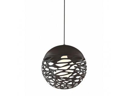 Černé kovové závěsné světlo Alegro 30 cm