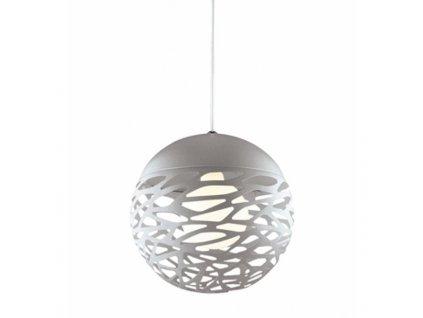 Stříbrné kovové závěsné světlo Alegro 30 cm