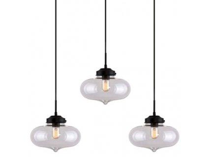 Transparentní závěsné světlo Rabat CL 85 cm