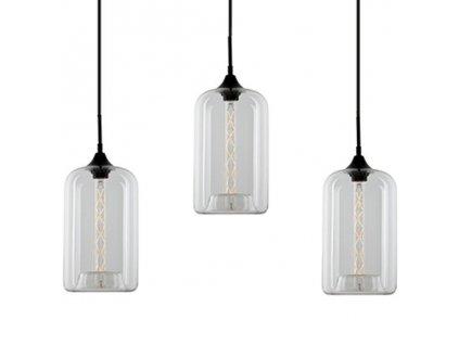 Transparentní závěsné světlo Istanbul CL 76 cm