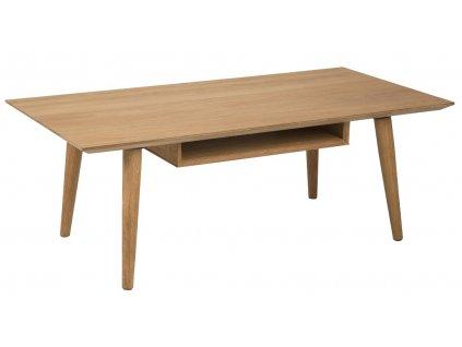 Dubový konferenční stolek Celia 120 cm, deska z dubové dýhy, MDF, podnož z masivního dubového dřeva, ošetřeno olejem