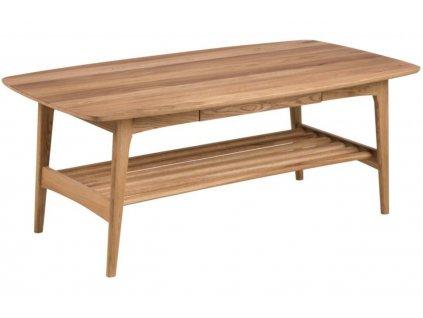 Dubový konferenční stolek Bristol 130 cm, deska z dubové dýhy, masivní dubové dřevo, ošetřeno olejem
