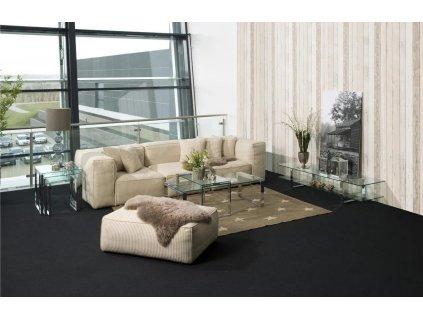 Skleněný set konferenčních stolků Divo 115 cm, sklo, chromovaný kov