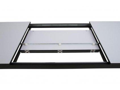 Bílý rozkládací jídelní stůl Manila 215-315 cm s kovovou podnoží
