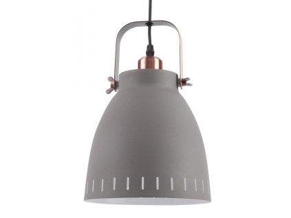 Šedé kovové závěsné světlo Lash, 26,5 cm