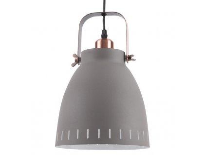 Šedé kovové závěsné světlo Lash 21 cm