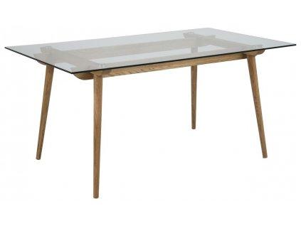 Moderní skleněný jídelní stůl Costa 160x90 cm