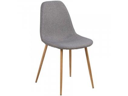 Světle šedá látková jídelní židle Wanda