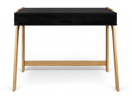 Černý dubový pracovní stůl Balcao 94 x 53 cm
