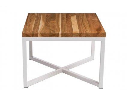 Konferenční stolek Tacros 100x100 cm , třešeň/bílá