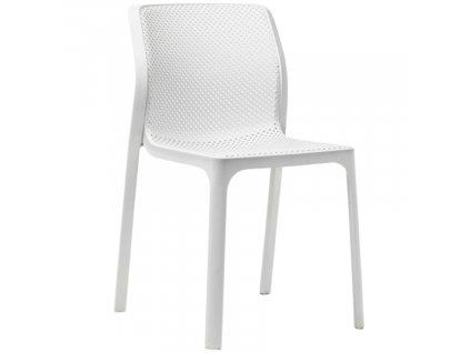 Bílá plastová zahradní židle Bit