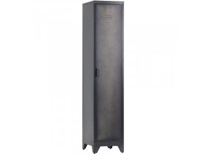 Černá kovová skříňka Gym 180 cm