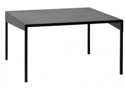 Černý kovový konferenční stolek Narvik 80 cm