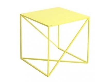 Žlutý kovový konferenční stolek Mountain 50x50 cm