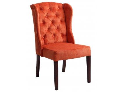 Oranžová látková jídelní židle Versai