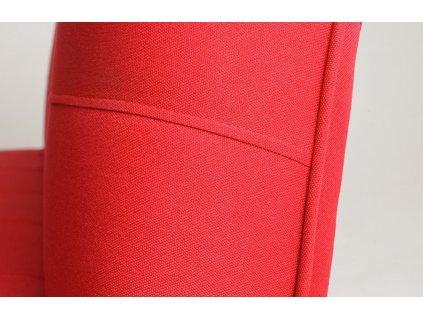 Červená látková rozkládací pohovka Modena 178 cm