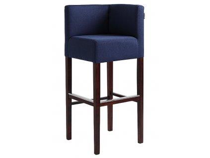 Modrá látková barová židle Pott Corner 87