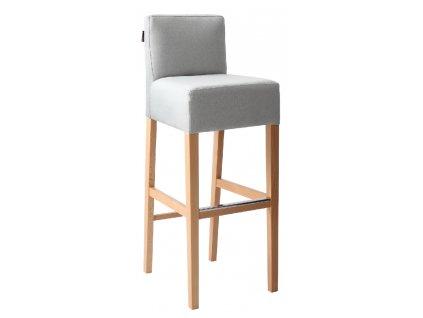 Šedá látková barová židle Pott 87