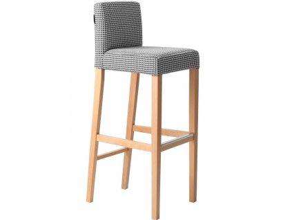 Černobílá látková barová židle Wilson 87 cm848x848