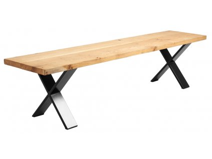 Přírodní masivní dřevěná lavice Combo 200 cm