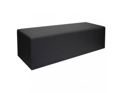 Černá koženková lavice MARBET Mia Prism